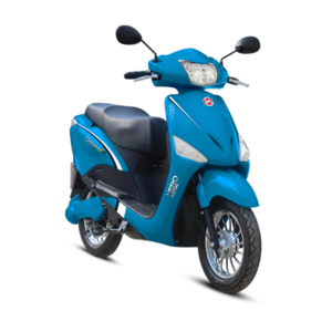 Hero electric optima e2 electric scooter in Cyan color
